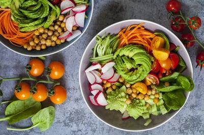Vibrant, delicious vegan meal