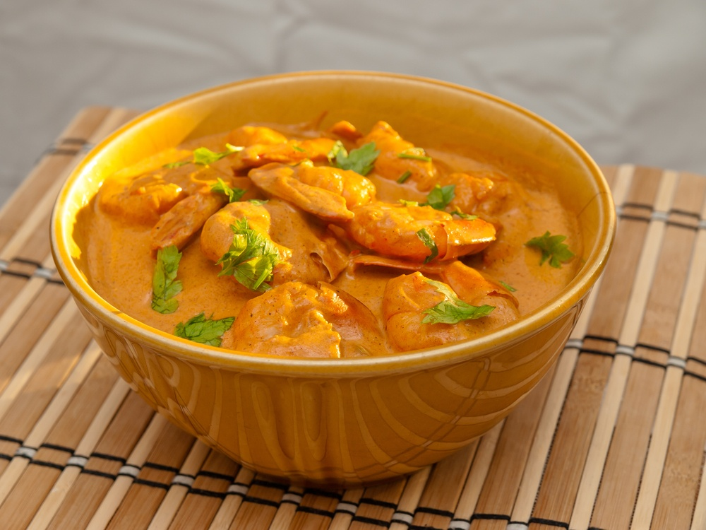 Bhagari Jhinga (Indian Stir-Fried Shrimp in Cream Sauce)